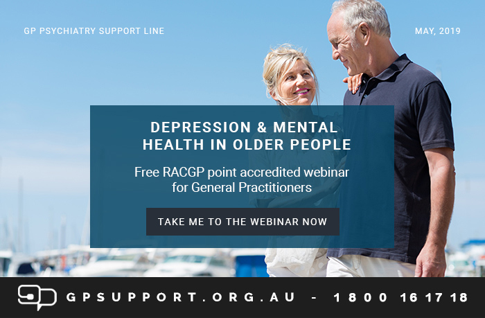 Webinar for GPs: Mental Health and Depression in Older People