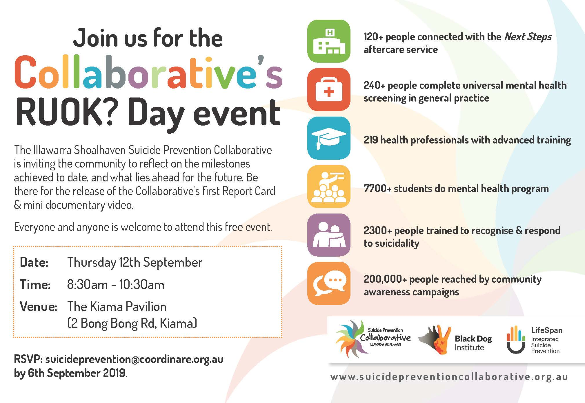 Come along to the Collaborative's R U OK? Day event!