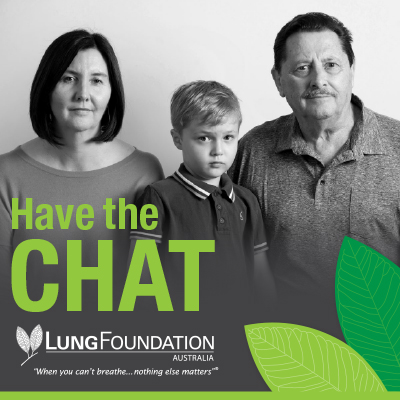 Lung Foundation Australia's Have the CHAT campaign