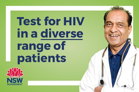 Test for HIV in a diverse range of patients, including heterosexual men